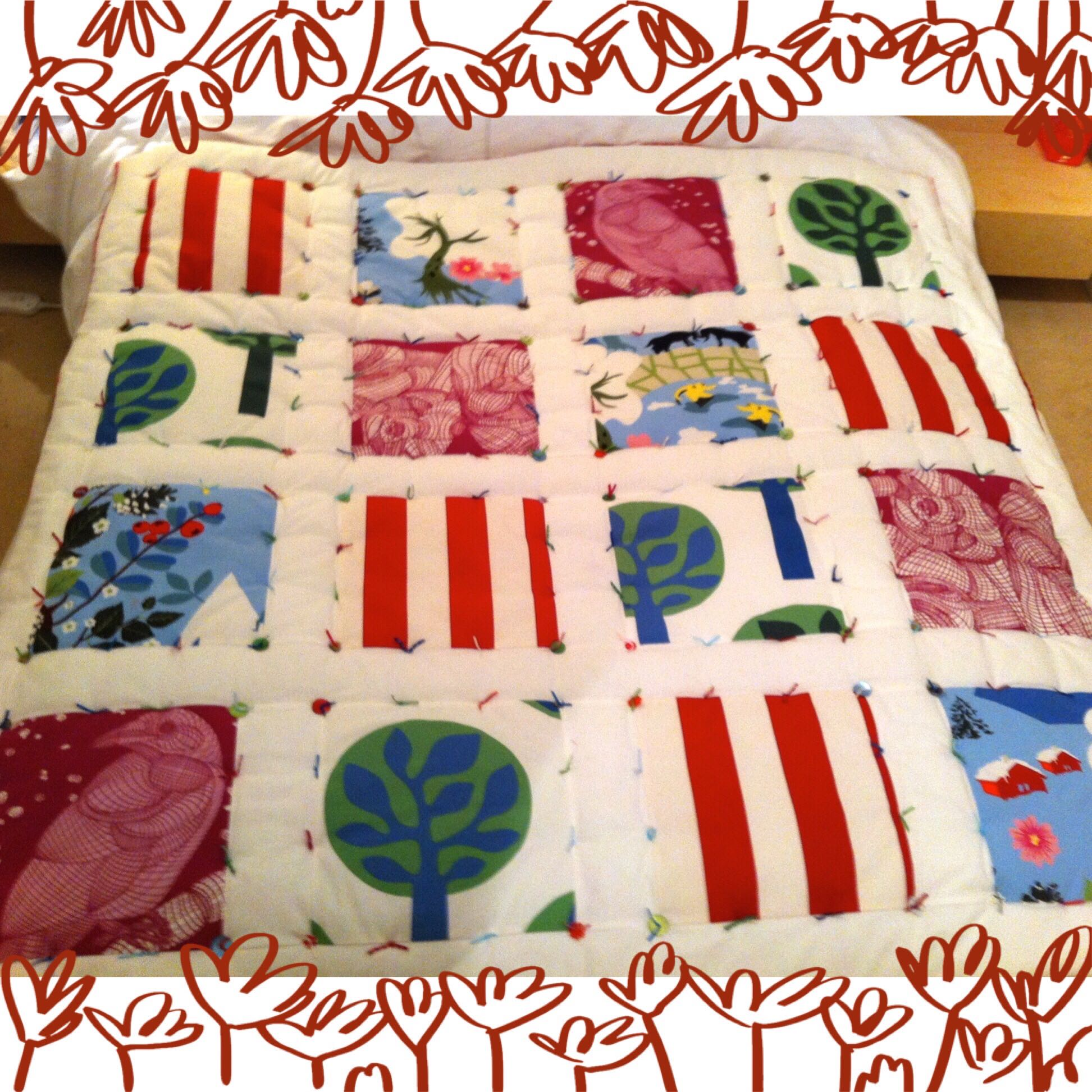 a simple quilt in ikea fabric curate and create
