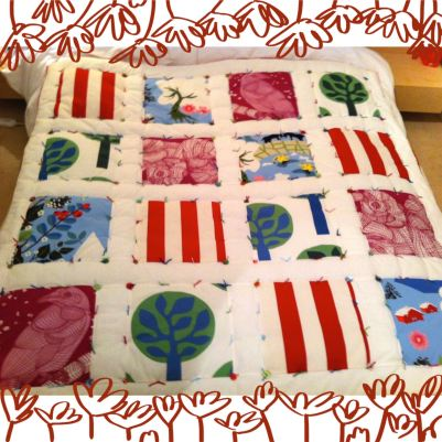 Ikea fabric hand tied quilt