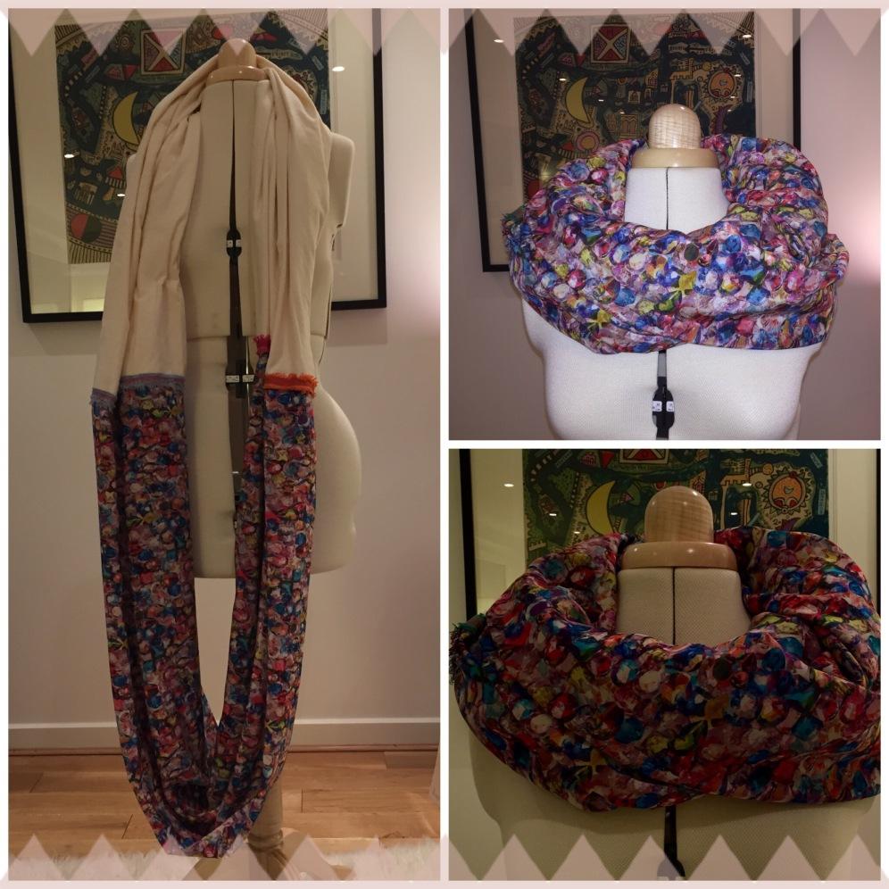 Liberty silk circle scarf