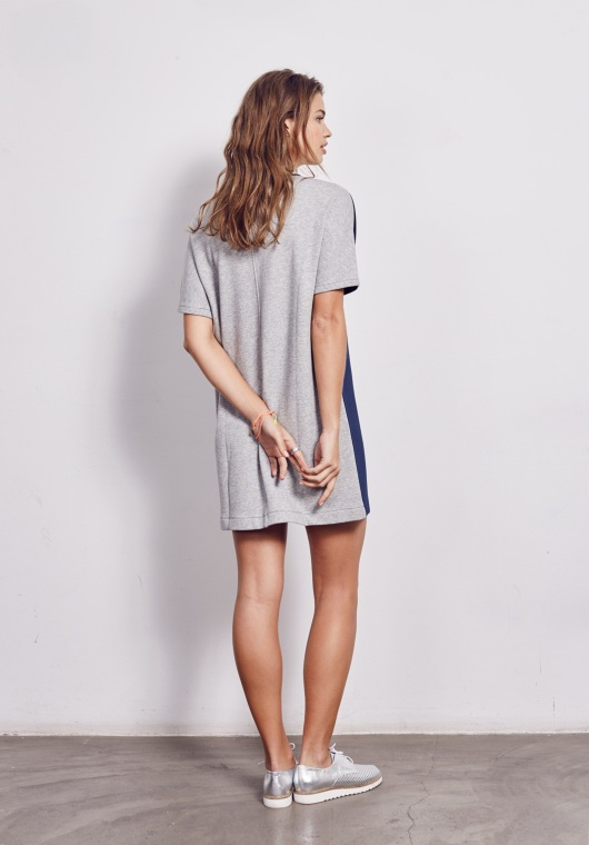 Neoprene+jersey shift dress