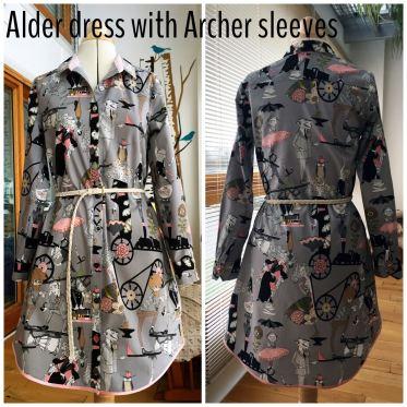 Grainline Alder with Archer sleeves