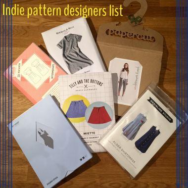 Indie pattern designers list