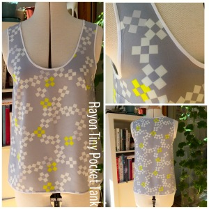 Grainline Tiny Pocket Tank rayon