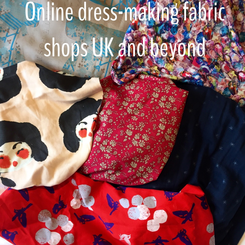 Online dress-making fabric supply shops UK and beyond