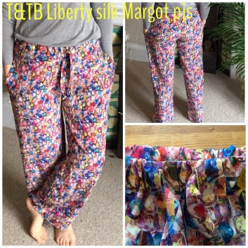 Tilly and the Buttons Margot pyjamas in Liberty silk