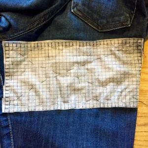Mending jeans Sashiko style