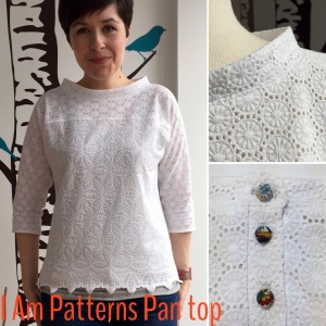I Am Patterns Pan top