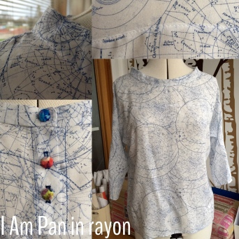 I Am Patterns Pan top in rayon