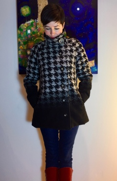 Houndstooth view B Closet Case Clare Coat