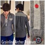 Grainline Archer doublegauze popover
