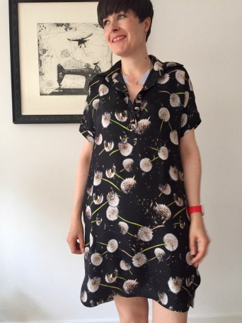 Closet Case Kalle shirtdress in dandelion clock silk