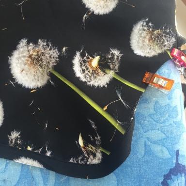Closet Case Kalle shirtdress in dandelion clock silk