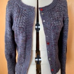 Audrey in Unst cardigan