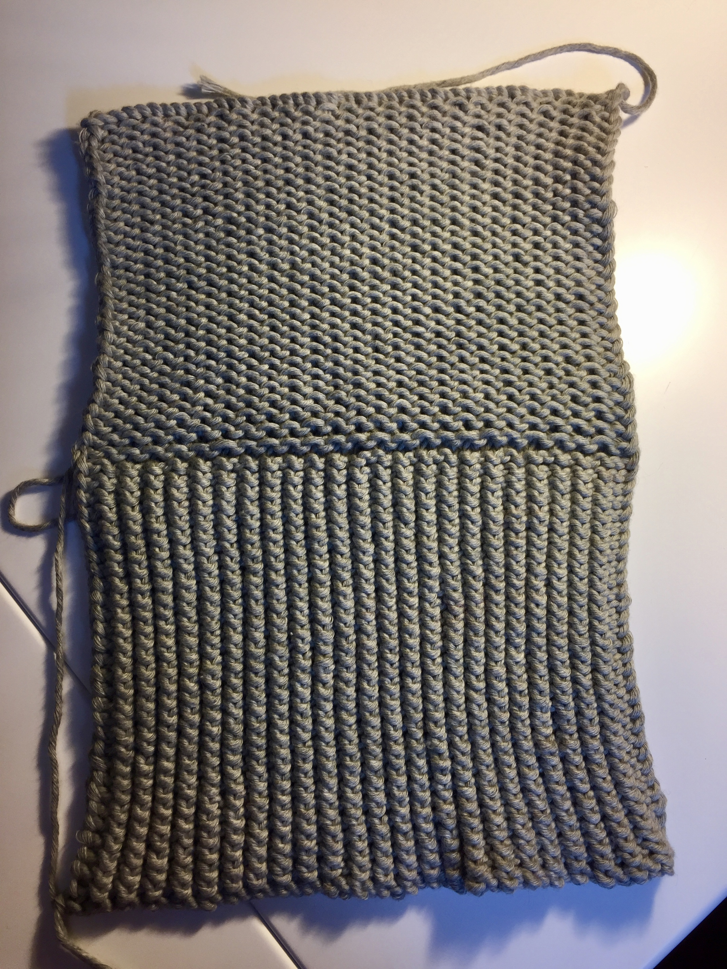 Knit cotton shower mitt